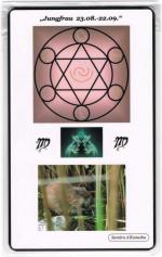 Kraftkarte für das Sternzeichen JUNGFRAU