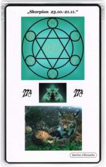 Kraftkarte für das Sternzeichen SKORPION