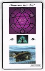 Kraftkarte für das Sternzeichen WASSERMANN