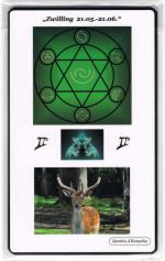 Kraftkarte für das Sternzeichen ZWILLING